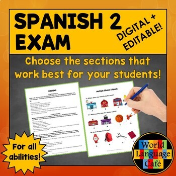 Spanish 2 (Intermediate) Midterm, Midyear Final Exam