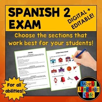 Spanish 2 Midterm, Final Exam