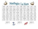 Spanish Activity to Tell Time  (Naufragio)