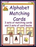 Spanish Alphabet Matching Cards