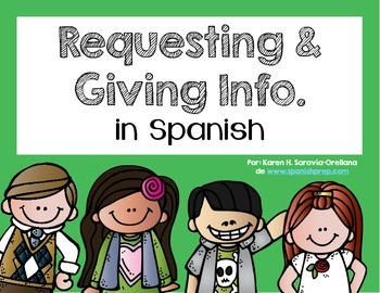 Spanish Bookmarks & Posters for requesting and giving information