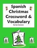 Spanish Christmas Navidad Crossword Worksheet & Vocabulary