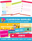 Spanish Classroom Calendar, Newsletter Templates & Lables