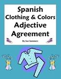 Spanish Clothing & Colors Worksheet - Noun and Adjective A