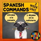 Spanish Commands, Mandatos, Imperativo Unit (70 Pages: Gam
