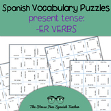 Spanish -ER Verbs, Present Tense Conjugation, Magic Square