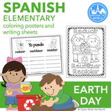 Spanish Earth Day Coloring & Writing el Día de la Tierra