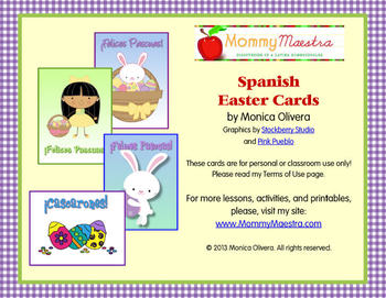 Spanish Easter Note Cards