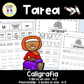 Spanish Homework:  008: TAREA Caligrafía A-Z  Penmanship