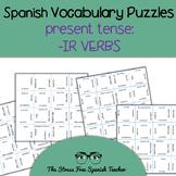 Spanish -IR Verbs, Present Tense Conjugation, Magic Square