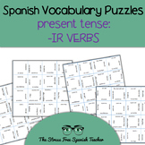 Spanish -IR Verbs, Present Tense Conjugation, Magic Square