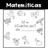Spanish:  Letter M Counting Book 1-10 / Cuenta con la letra M