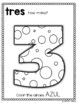 Spanish Numbers Coloring Booklet (1-10)