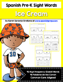 Spanish Pre-Kinder Sight Words (Dolch) Ice Cream Scoops