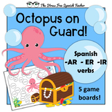 Spanish Present Tense AR, ER, IR verb REVIEW GAME! Octopus