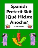Spanish Preterit Skit / Role Play - Que hiciste anoche?-Or