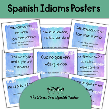 Spanish Proverbs Posters  (Idioms)