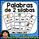 Spanish Puzzle for 2 Syllable Words (Rompecabezas para Pal