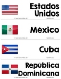Spanish Speaking Countries Word Wall Paises Hispano Hablantes