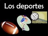 Spanish Sports (Los deportes) Power Point (125 slides)