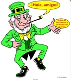 Spanish St. Patrick's Day Label the Leprechaun Body Parts-