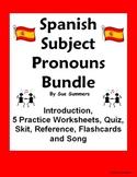Spanish Subject Pronouns Bundle - Practice, Quiz, Skit, In