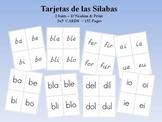 Spanish Syllable Flash Cards - Las silabas