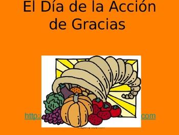 Spanish Thanksgiving Powerpoint