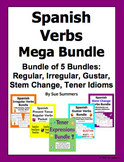 Spanish Verbs Mega Bundle of 5: Regular, Irregular, Stem,
