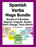 Spanish Verbs Mega Bundle of 5 Bundles - Irregulars, Gusta