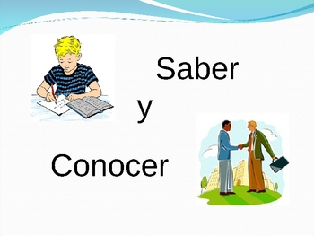 Spanish Verbs Saber and Conocer Activity