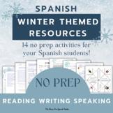 Spanish: Winter Activities PACKET! Vocabulary Verbs Gramma