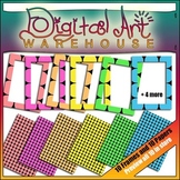 Sparkly Dot Borders and Backgrounds 20 Graphics Clip Art