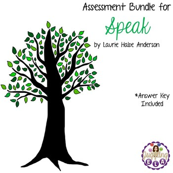 Speak by Laurie Halse Anderson - 4 Quizzes and 3 Tests wit