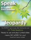 Speak by Laurie Halse Anderson Jeopardy
