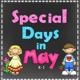 Special Days in May Variety Pack for K-1 Print and Go