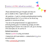 Special Education Assistant Paraprofessional Expectations