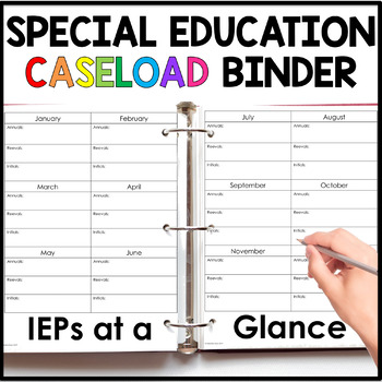 Special Education Caseload Binder {Completely Editable!}