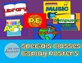 Specials Classes Display Posters