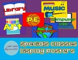 Specials Classes Display Posters
