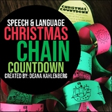 Speech & Language Christmas Chain Countdown {Craftivity}