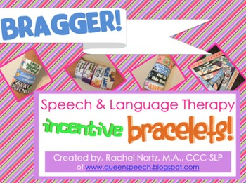 Speech & Language Therapy Incentive Bracelets