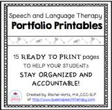 Speech-Language Therapy Portfolio {Black and White}