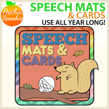 Speech Mats and Cards (Great for  Play Doh or Dot Markers!)
