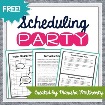 Speech therapy scheduling overload? Check out this FREE kit for SLPs with all that you need to set up your own scheduling party!
