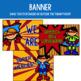 Speech Therapy Bulletin Board Set with Superhero Theme