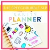 Speech Therapy Organization and Data Binder/Planner