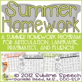 Speech and Language Therapy Summer Homework Program
