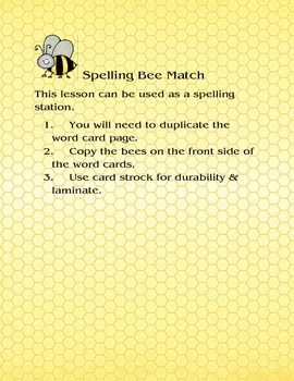 Spelling Bee Match