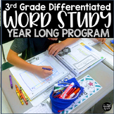 Differentiated Word Study Program for 3rd Grade Editable